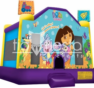 Dora Full Face Bounce House  15×15