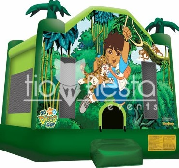 Diego Full Face Bounce House  15×15